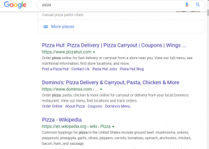 Capture of pizza, representing Getting loved by search engine