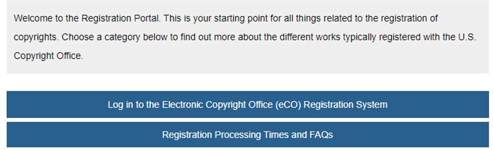 copyright registration portal