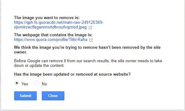 google image removal process