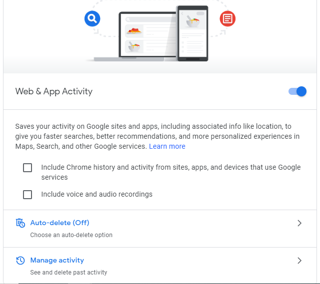 Stop Google From Saving Your Activity