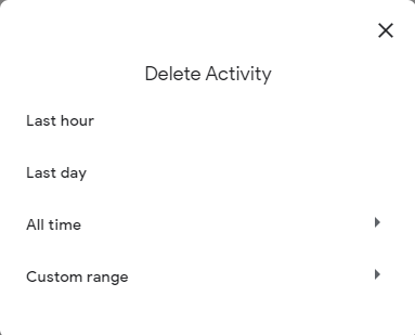 delete activity
